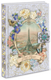 Eiffel Vignette Large Brooch Flap Journal - Only 2 Left! - Roses And Teacups