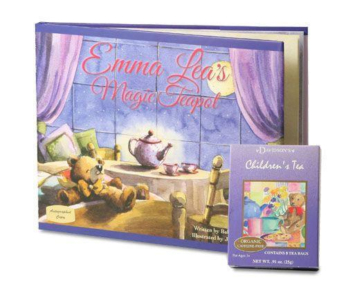 Emma Leas Magic Teapot  Book with 8 Pack of Children's Tea - Roses And Teacups