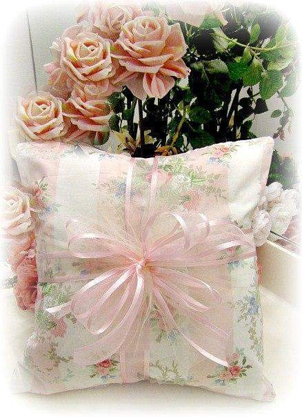 Everyday Romance Pink Vintage Roses Pillow - Roses And Teacups