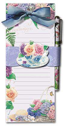 Falling in Love with Hydrangea Magnetic Shopping List - Roses And Teacups