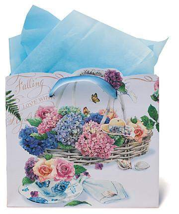 Falling in Love with Hydrangeas Gift Bag with Tag - Roses And Teacups