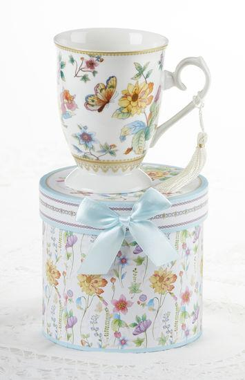 Floral Daze Butterfly Porcelain Mug in Gift Box - Roses And Teacups