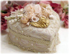 Gilded Opulence Beaded Heart Box - Roses And Teacups