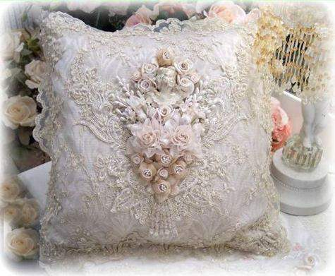 Gilded Opulence Square Pillow - Roses And Teacups