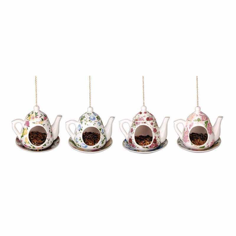 Hanging Teapot Feeder - Roses And Teacups