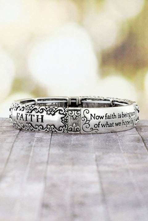 Hebrews 11 Faith Stretch Bracelet - Roses And Teacups