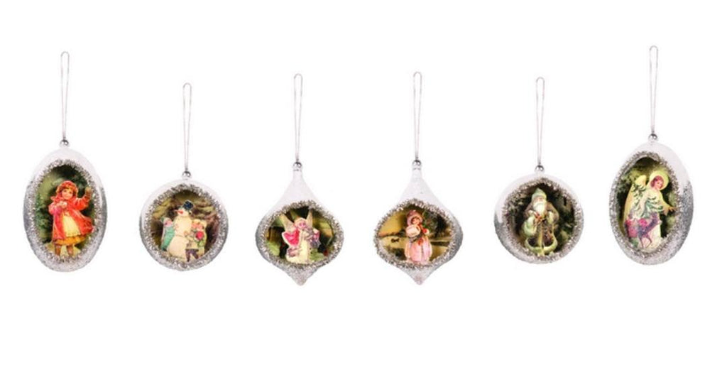 Heirloom Ornaments Set of 6-Roses And Teacups