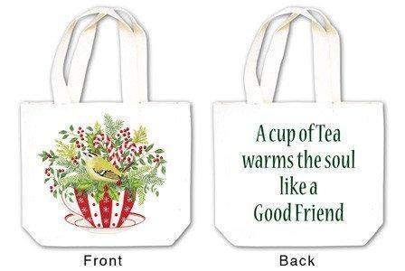 Holiday Tea Cup Tea Tote with Tea and Spiced Tea Cup Mat - Roses And Teacups