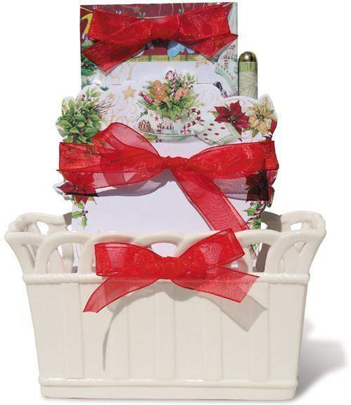 Holiday Tea Time Desk Set - Roses And Teacups