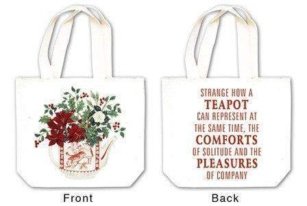 Holiday Teapot Tea Tote with Tea and Spiced Tea Cup Mat - Roses And Teacups