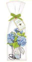 Hydrangeas T852 Set of 2 Cotton Tea Towels - Roses And Teacups