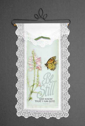 Inspirational Wall Hangings Be Still and Know I Am God - Roses And Teacups