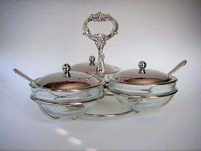 Jam and Condiment Server - Roses And Teacups