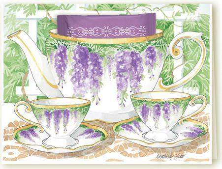 Kimberly Shaw Tea Party Teacup Card - Roses And Teacups
