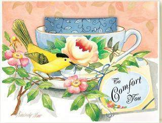 Kimberly Shaw To Comfort You Tea Card - Roses And Teacups