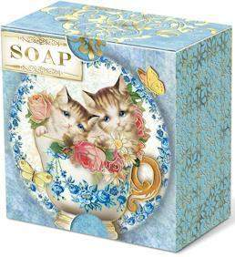 Kittens Verbena Gift Soap - Roses And Teacups