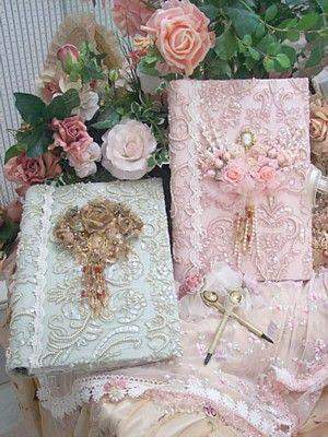 Large Victorian Beaded Photo Album - Roses And Teacups