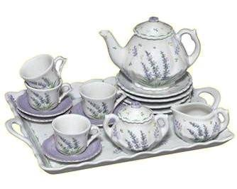 Lavender 16 Piece Girls'  Tea Set - Only 1 Set Left - Roses And Teacups
