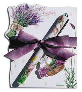 Lavender Allure Die Cut Notepad and Designer Pen - Roses And Teacups