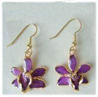 Lilac Orchid Earrings - Roses And Teacups