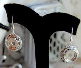 Lotti Dotties Filigree Earrings - Roses And Teacups