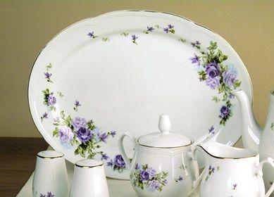 Lydia 14 inch Ova Porcelain Platter - Only 3 Available - Roses And Teacups