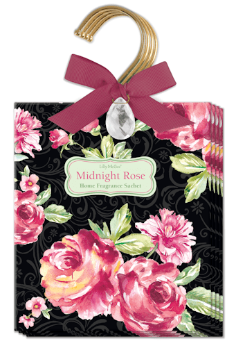 Midnight Rose Hanging Sachets - Roses And Teacups