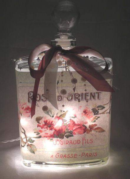 Orient Rose Perfume Bottle Nightlight ( Night Light ) - Roses And Teacups