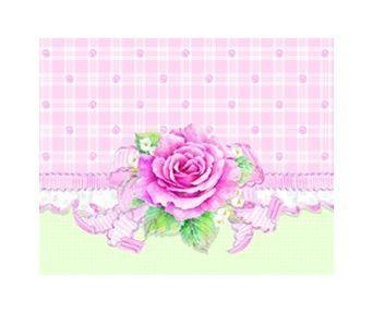 Original Carol Wilson Gingham Rose Mini Portfolio - Only 1 Available!-Roses And Teacups