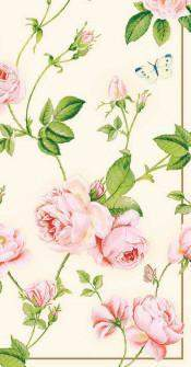 Pack of 16 Rambling Rose 8 1/2 x 4 1/2 Decorative Paper Guest Towels - Roses And Teacups