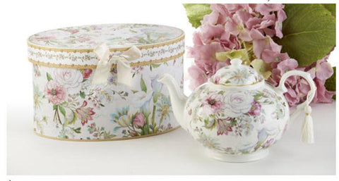 Pale Rose Porcelain Teapot in Gift Box - Roses And Teacups