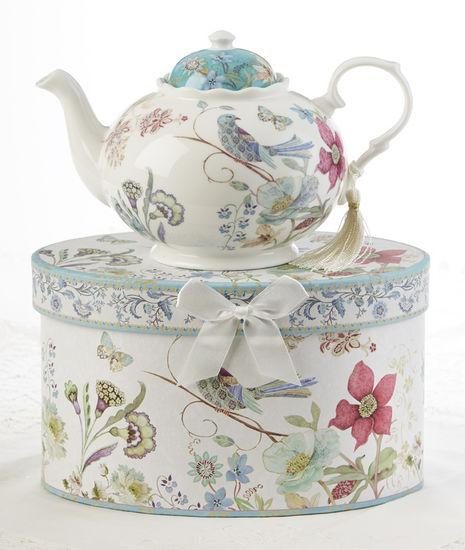 Partridge Porcelain Teapot in Gift Box - Roses And Teacups