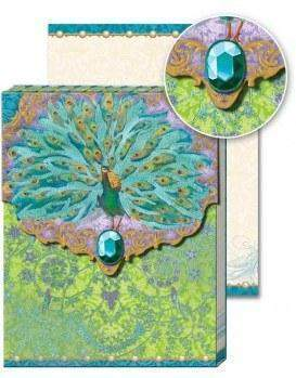 Peacock Glitter Mini Purse Notepad Favor with Magnetic Closure - Roses And Teacups