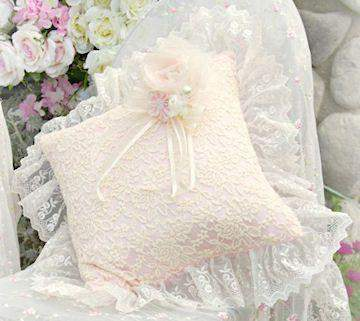 Pink and Creme Romance Pillow - Roses And Teacups