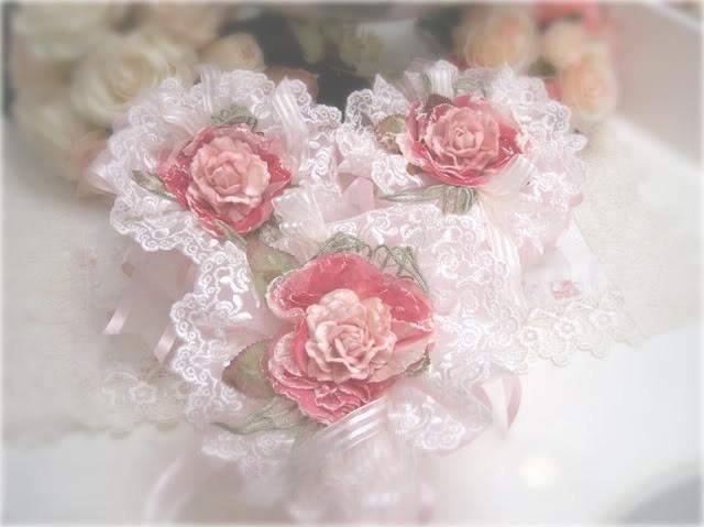 Pink Pom Pom Sachets - Roses And Teacups