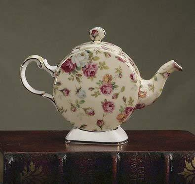 Rare Royal Patrician Antique Rose 2 Cup English Bone China Teapot - Roses And Teacups