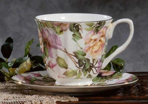 Rare Royal Patrician Lauren Guinivere Fine Bone China Teacup And Saucer - Made In England - Only 2 Available! - Roses And Teacups