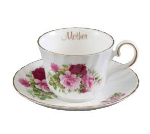 Rare Royal Patrician Summertime Rose Bone China Made in England Mother Teacup and Saucer - Only 4 Sets Available! - Roses And Teacups
