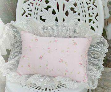 Romance Pink Rectangle Pillow - Roses And Teacups