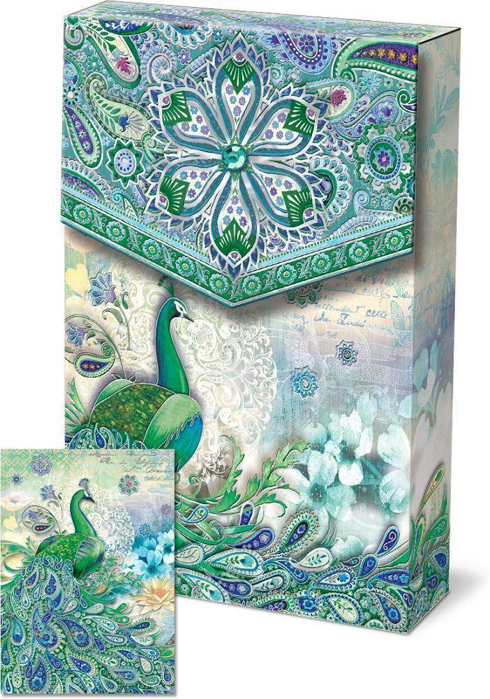 Romantic Pouch Note Cards - Paisley Peacock - Only 1 Left - Roses And Teacups