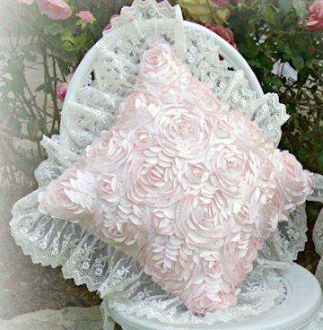 Rose Blush Square Pillow - Roses And Teacups
