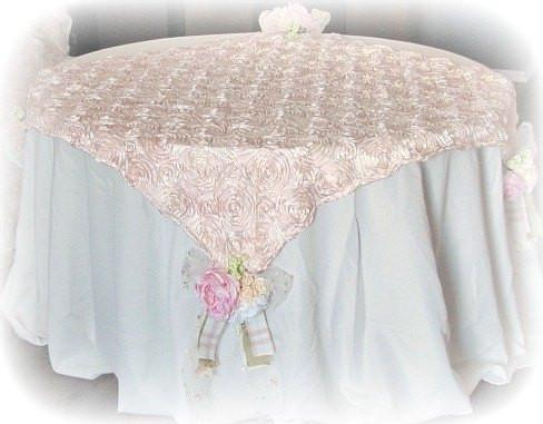 Rose Blush Table Topper - Roses And Teacups