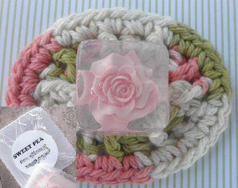 Rose Decorative Personalized Glycerin Soap Favors Set of 24 - Roses And Teacups