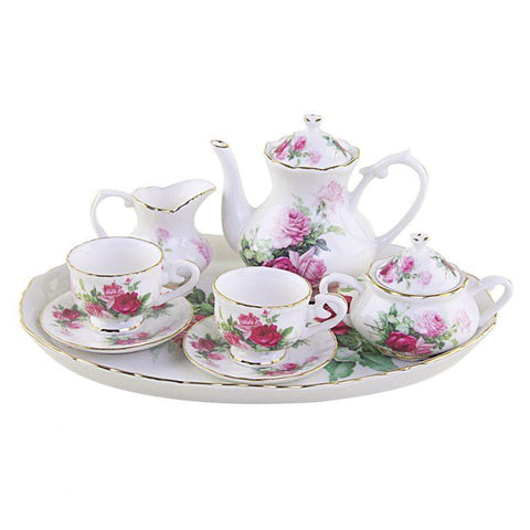 Rose Garden Girls Tea Set - FREE Tea Included!-Roses And Teacups
