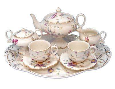 Sasha's Secret Garden Girl's Tea Set - FREE Tea Included! - Roses And Teacups