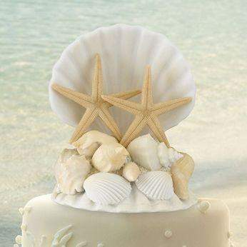 Sea Shell Cake Topper-Roses And Teacups