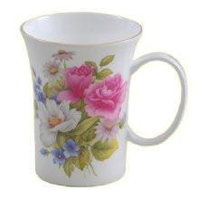 Set of 4 Gracie's Rose Bone China Mugs-Roses And Teacups