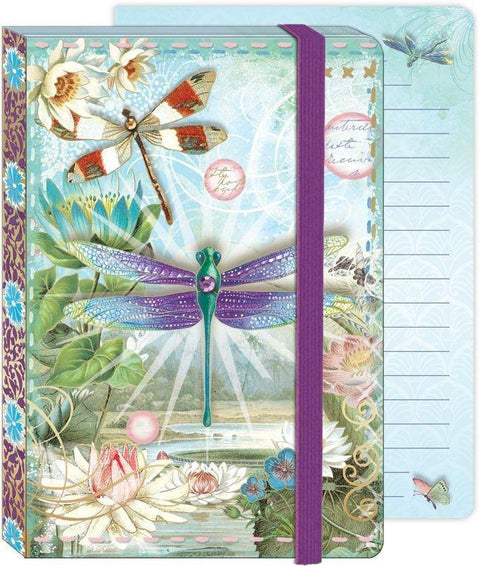 Soft Cover Bungee Journal - Dragonflies - Roses And Teacups