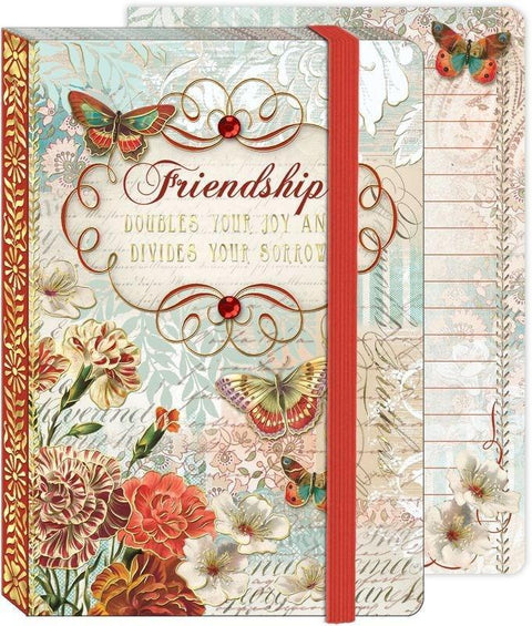 Soft Cover Bungee Journal - Friendship - Roses And Teacups