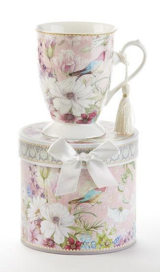Spring Bird of Paradise Gift Boxed Porcelain Mug - Roses And Teacups